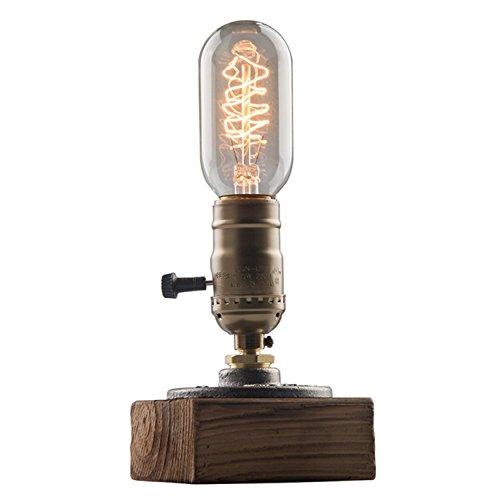RoomClip商品情報 - OYGROUP E26 ヴィンテージ 木製テーブルランプ 卓上ライト 1灯