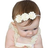 miugleベビーキュートアイボリーヘッドバンドヘアリボン乳児幼児伸縮性ヘアバンドHeadwear
