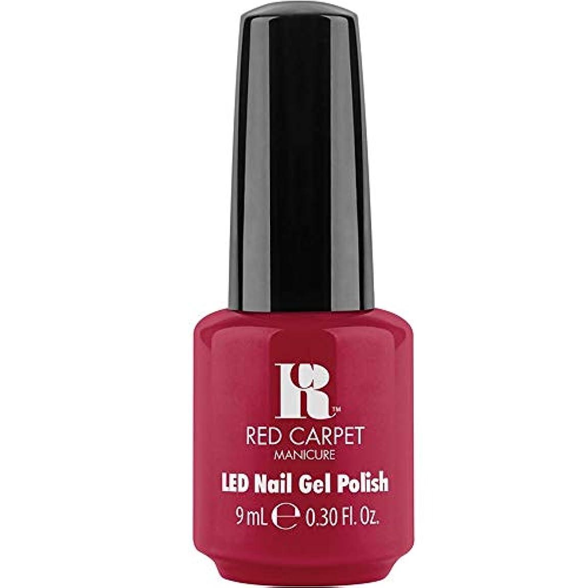 カテナ雑多な品揃えRed Carpet Manicure - LED Nail Gel Polish - Sealed with a Kiss - 0.3oz / 9ml