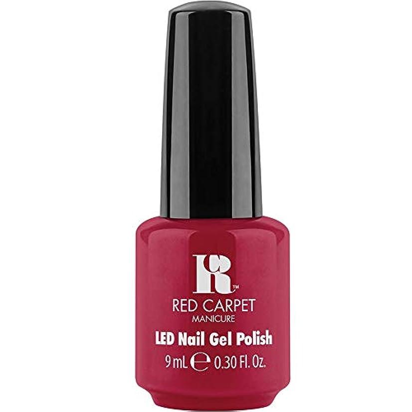 のため疑い者干ばつRed Carpet Manicure - LED Nail Gel Polish - Sealed with a Kiss - 0.3oz / 9ml