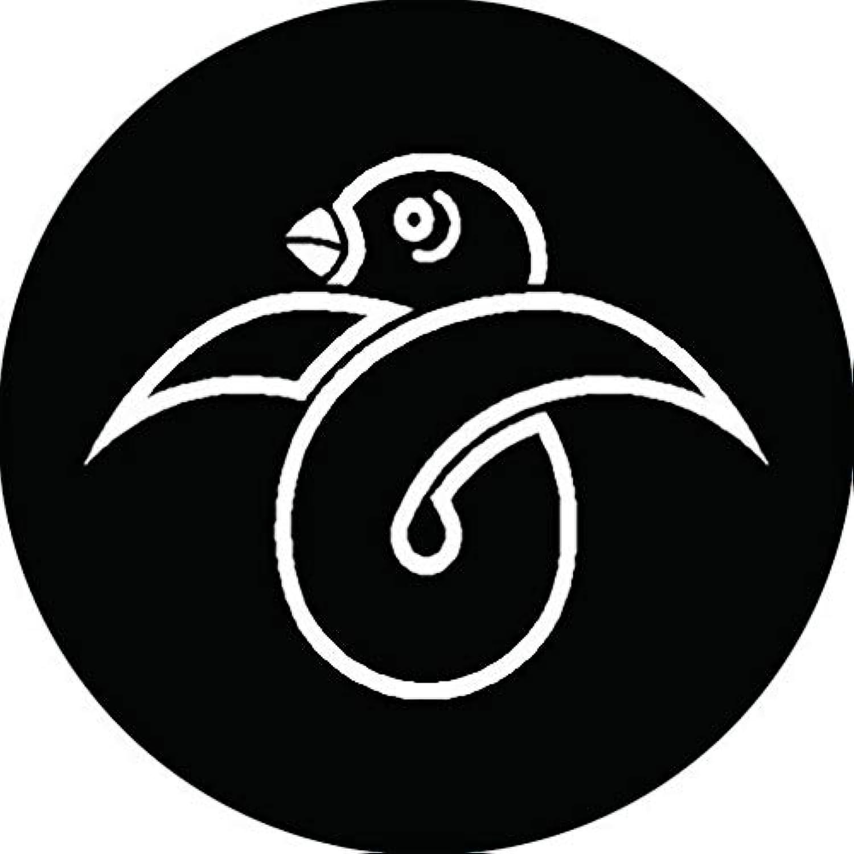 家紋シール 陰結び雁金紋 布タイプ 直径40mm 6枚セット NS4-0155