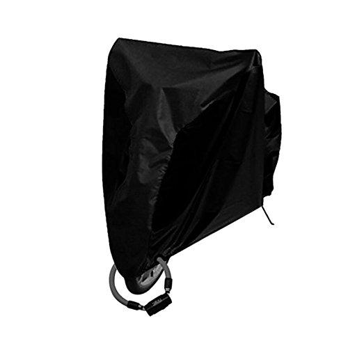 【2017最新素材版】アーティファクト 自転車 カバー レイン カバー 高品質 バイク カバー サイクル カバー 厚手 破れにくい XLサイズ 29インチまで対応 防水 風飛び防止 UVカット 大きめ収納袋付き ブラック