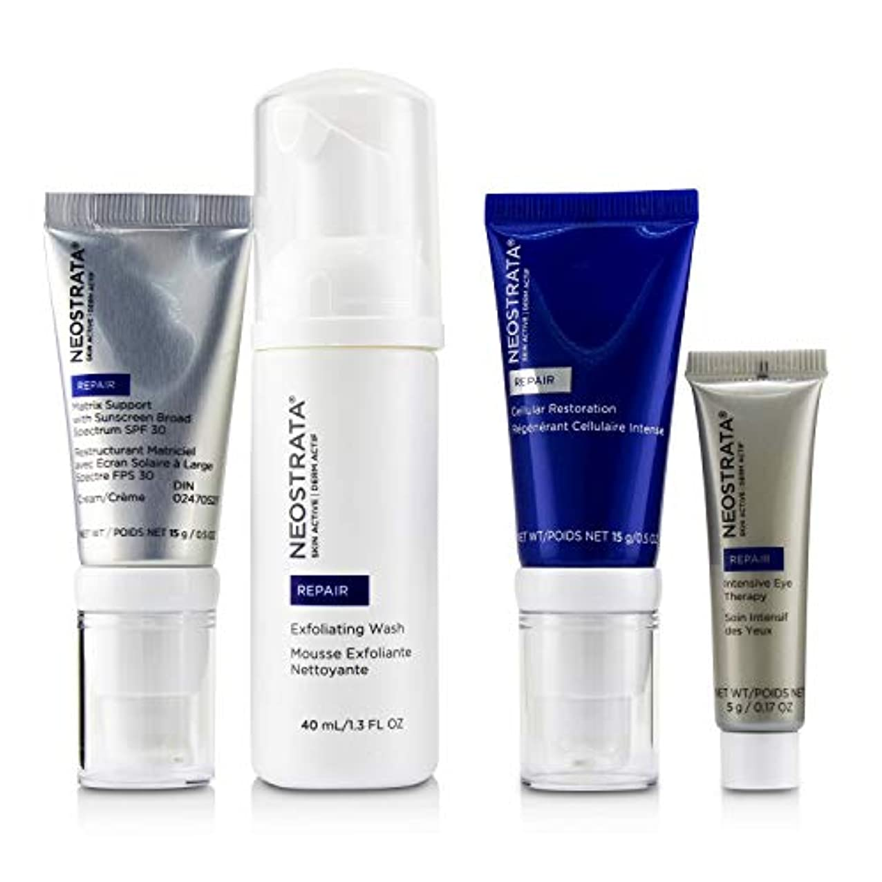 兵士スパーク雑種ネオストラータ Skin Active Derm Actif Repair - Comprehensive Antiaging System: Exfoliating Wash + Cellular Restoration...