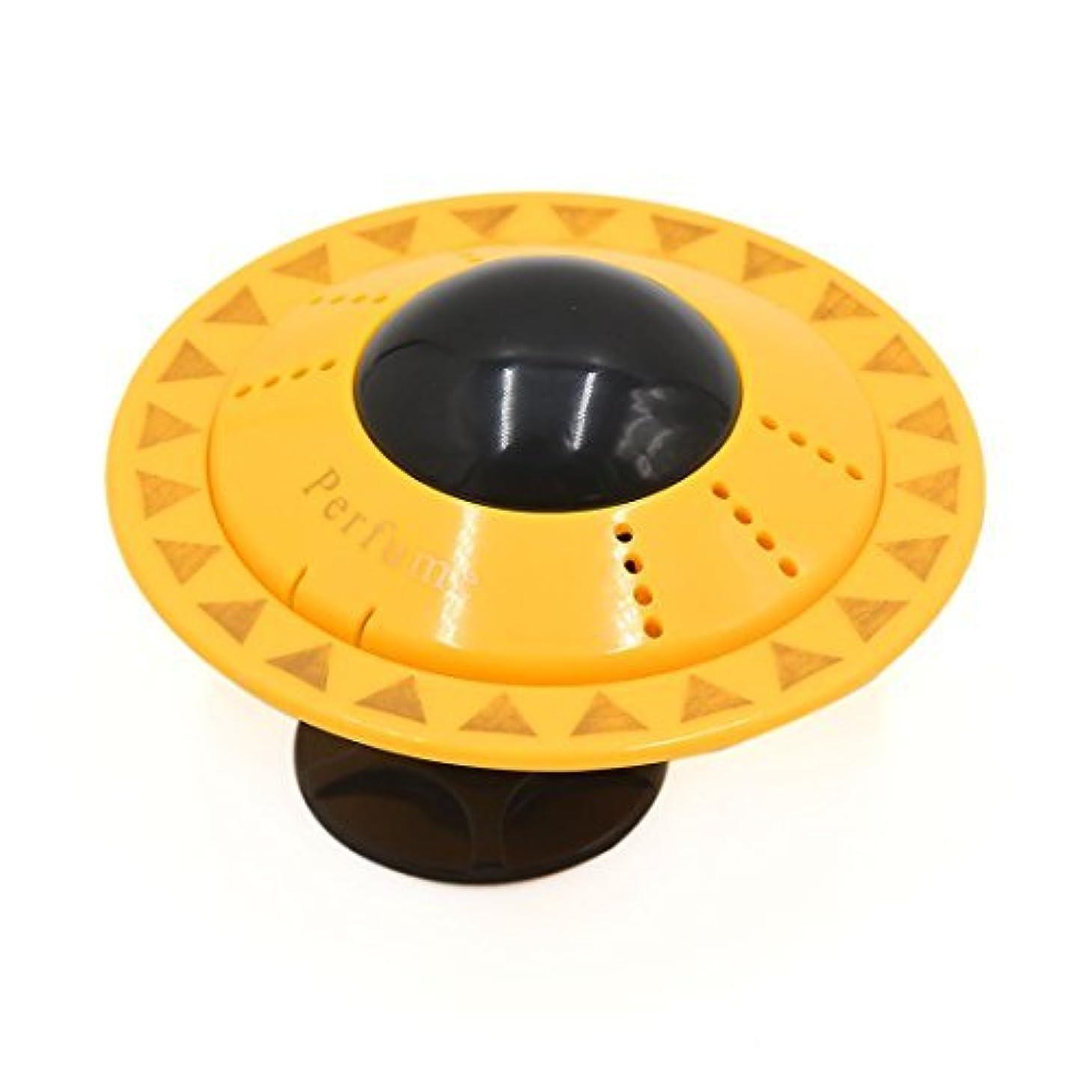 ロール刺繍ファブリックDealMuxイエローUFO形のデザインカー香水ブロックフレグランスディフューザーエアーフレッシュナー