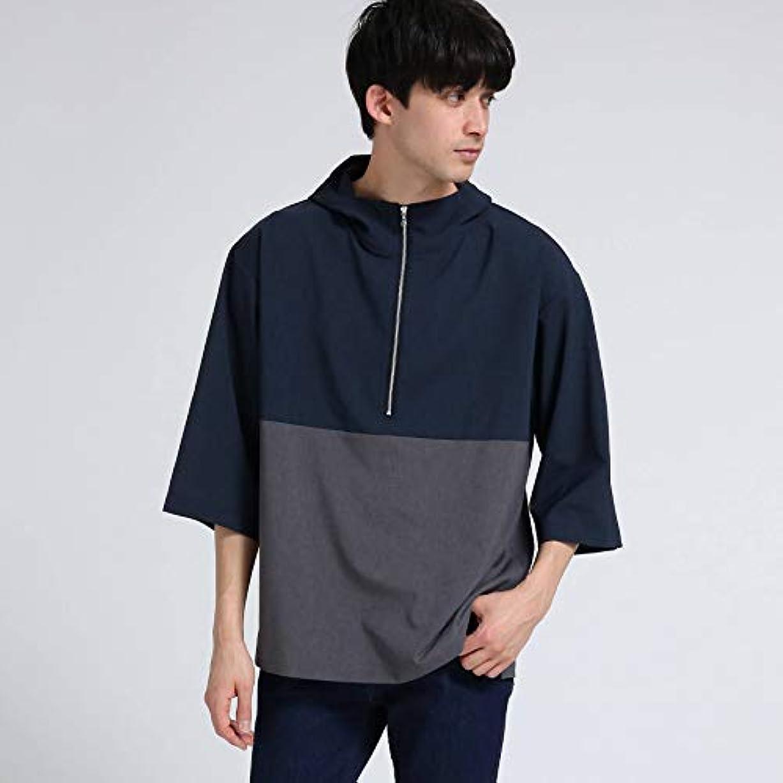 無数の想定する怒って(ティーケー タケオキクチ) tk.TAKEO KIKUCHI ポリトロフードハーフジップフードシャツ 17086201