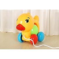 goodsceneクリエイティブpull-alongおもちゃ子供の教育玩具幼児用Duckling Pullロープトイ