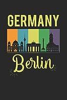 Allemagne Berlin: Agenda, carnet, livre 100 pages lignées en couverture souple pour tout ce que vous voulez écrire et ne pas oublier