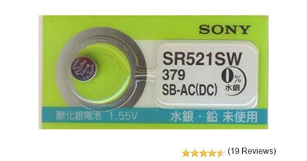 098f4a7abd Amazon | SONY [ソニー] 純正時計用 酸化銀ボタン電池 SR521SW (単品1個)=379 | ソニー(SONY) | 乾電池