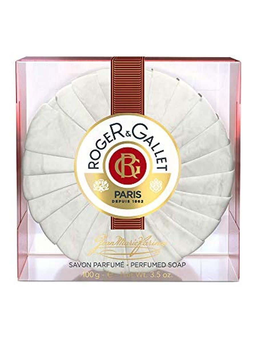 歴史的タブレット超音速ロジェガレ ジャンマリファリナ パフュームソープ (香水石鹸) 100g ROGER&GALLET JEAN MARIE FARINA SOAP(プラスチック簡易ケース入り) [並行輸入品]