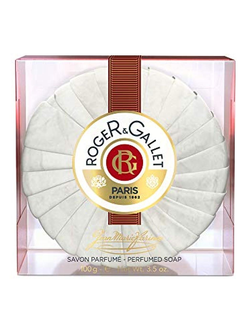 インフレーション南西カストディアンロジェガレ ジャンマリファリナ パフュームソープ (香水石鹸) 100g ROGER&GALLET JEAN MARIE FARINA SOAP(プラスチック簡易ケース入り) [並行輸入品]
