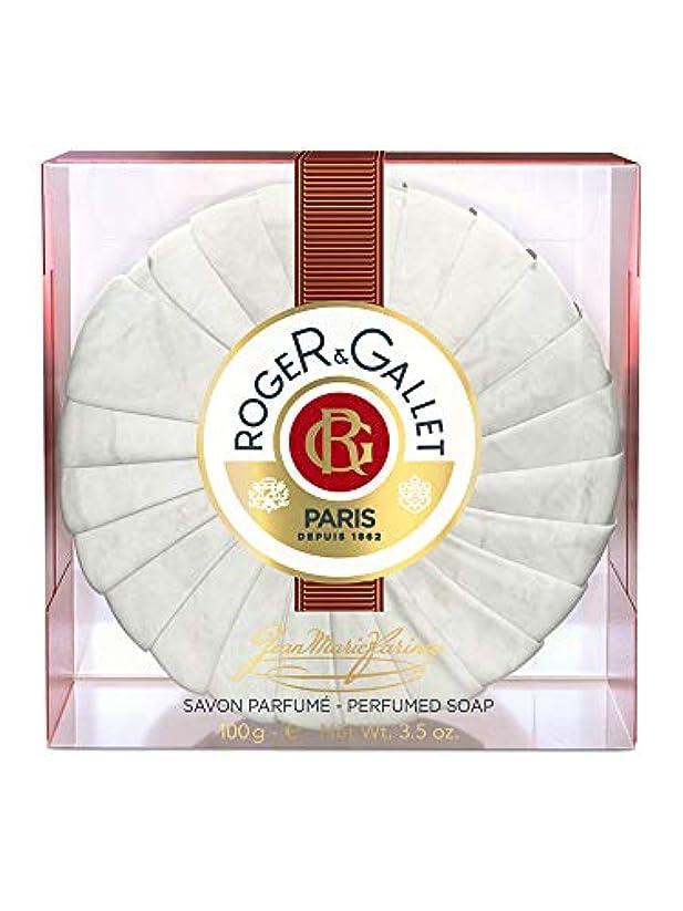 防止憎しみグレーロジェガレ ジャンマリファリナ パフュームソープ (香水石鹸) 100g ROGER&GALLET JEAN MARIE FARINA SOAP(プラスチック簡易ケース入り) [並行輸入品]