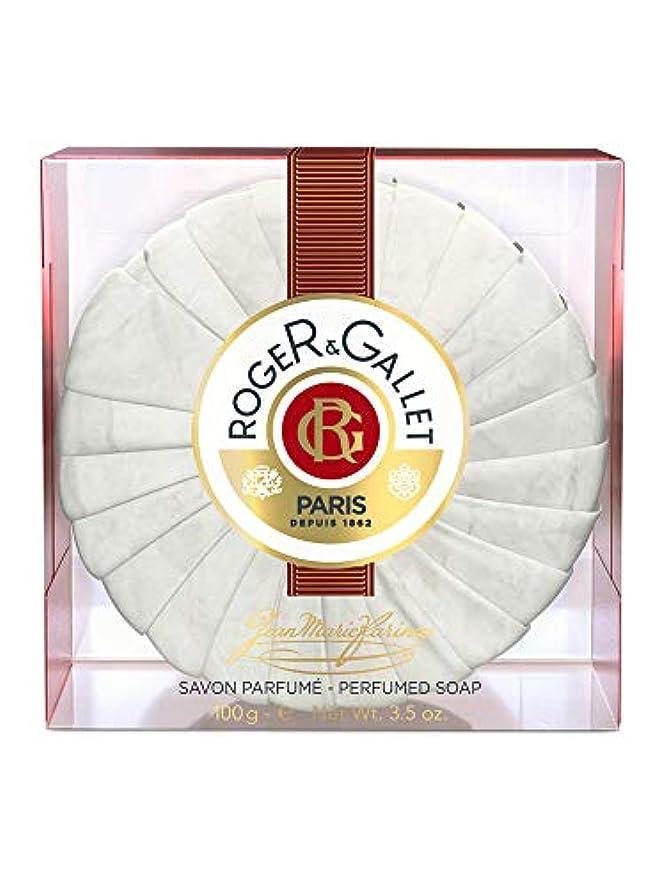見ました五月地平線ロジェガレ ジャンマリファリナ パフュームソープ (香水石鹸) 100g ROGER&GALLET JEAN MARIE FARINA SOAP(プラスチック簡易ケース入り) [並行輸入品]