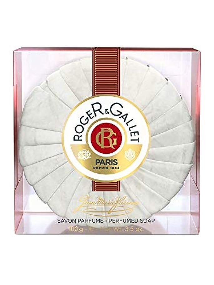 失敗ヒュームフレキシブルロジェガレ ジャンマリファリナ パフュームソープ (香水石鹸) 100g ROGER&GALLET JEAN MARIE FARINA SOAP(プラスチック簡易ケース入り) [並行輸入品]