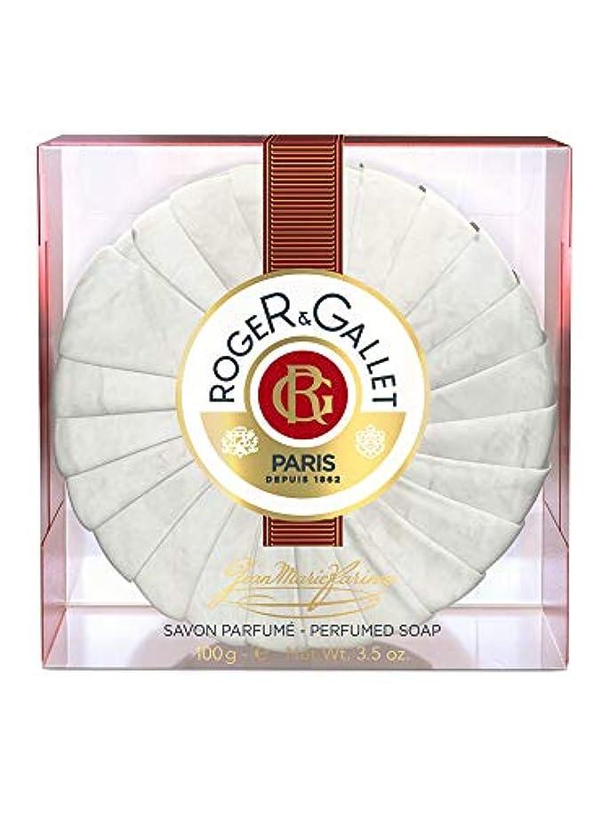 噴火関連するばかげたロジェガレ ジャンマリファリナ パフュームソープ (香水石鹸) 100g ROGER&GALLET JEAN MARIE FARINA SOAP(プラスチック簡易ケース入り) [並行輸入品]