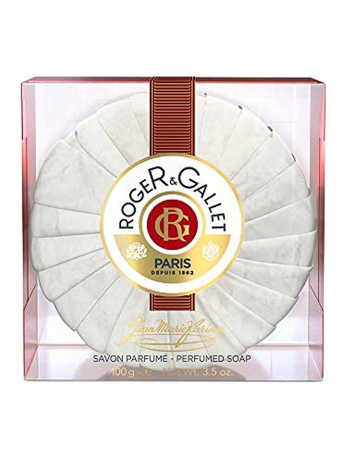 必要性アンティーク祭司ロジェガレ ジャンマリファリナ パフュームソープ (香水石鹸) 100g ROGER&GALLET JEAN MARIE FARINA SOAP(プラスチック簡易ケース入り) [並行輸入品]