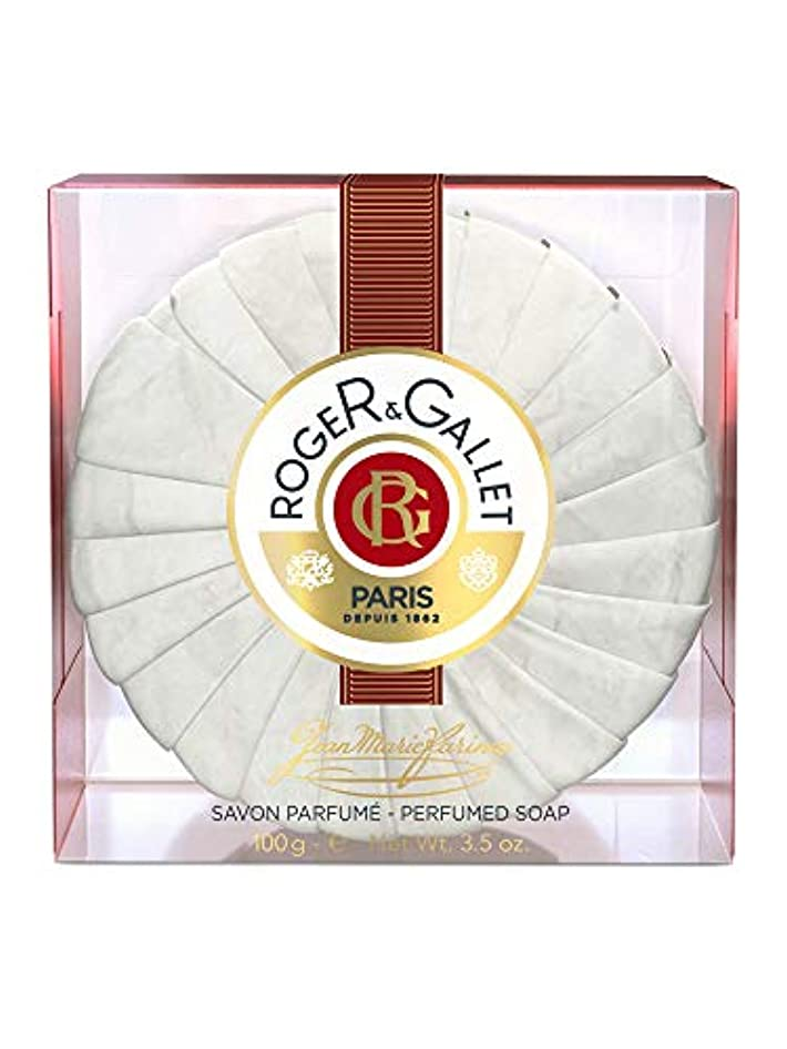 コテージワークショップ浪費ロジェガレ ジャンマリファリナ パフュームソープ (香水石鹸) 100g ROGER&GALLET JEAN MARIE FARINA SOAP(プラスチック簡易ケース入り) [並行輸入品]