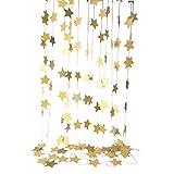 [comoza] 星 型 パーティー モール 飾り お誕生日 飾り付け グッズ イベント ゴールド 4M 3個 セット