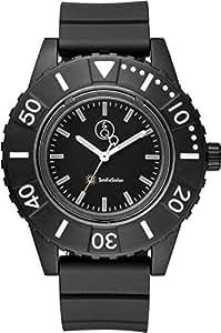 [キューアンドキュー スマイルソーラー]Q&Q SmileSolar 腕時計 ソーラー アナログ 20気圧防水 直径45mm ブラック RP30-002 メンズ