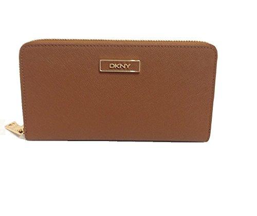 (ダナキャラン ニューヨーク) DKNY Donna Karan Saffiano Leather Zip Around Wallet ダナキャラン ジップアラウンド長財布 (Walnut) [並行輸入品]