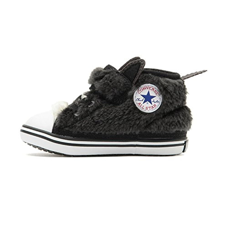 CONVERSE コンバース BABY ALL STAR N AMFUR V-1 ベビー オールスター 国内正規品 スニーカー ファー 靴 もこもこ くつ 黒 男の子 女の子 キッズ マジックテープ