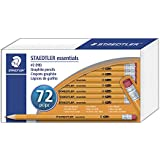 Staedtler Essentials Pre-Sharpened HB #2 Yellow Wood Graphite Pencils, with Latex-Free Pink Eraser, Classpack of 72, 13251C72A6