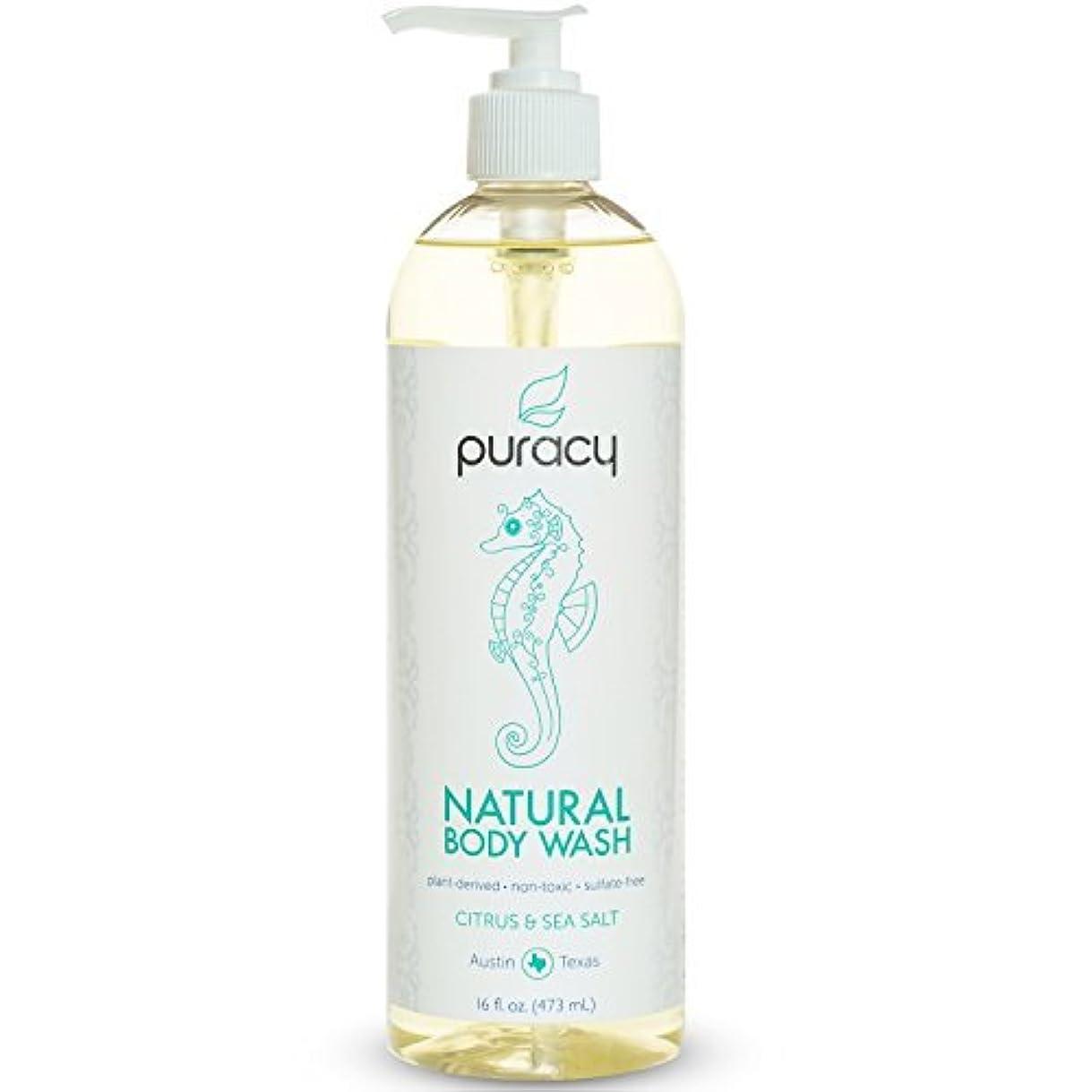 大型トラック半球添加Puracy Natural Body Wash Citrus and Sea Salt 16 Fluid Ounce [並行輸入品]