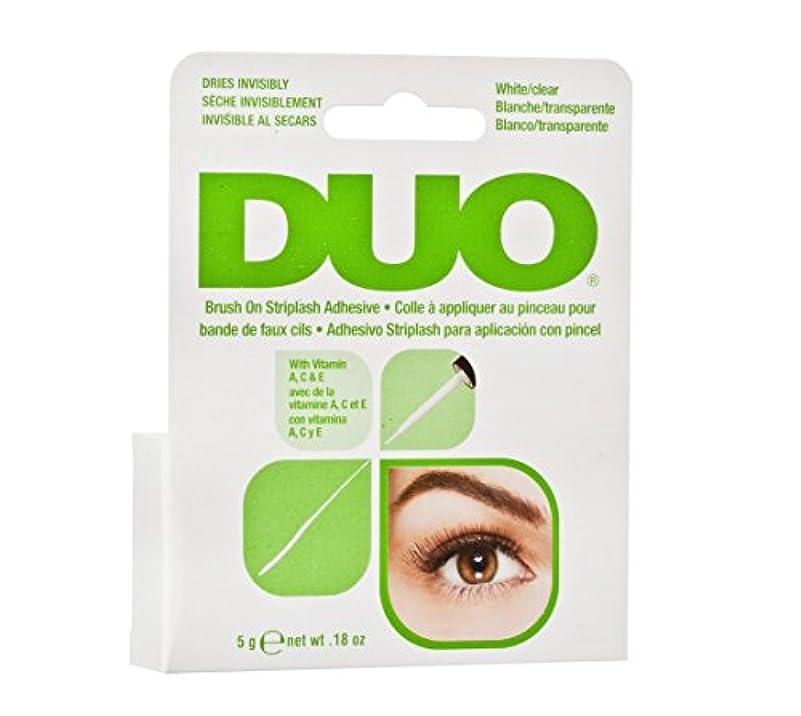 お肉サバント制裁DUO Brush On Striplash Adhesive White/Clear (並行輸入品)