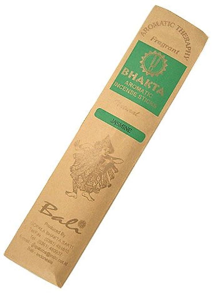 効能群集数値お香 BHAKTA ナチュラル スティック 香(ジャスミン)ロングタイプ インセンス[アロマセラピー 癒し リラックス 雰囲気作り]インドネシア?バリ島のお香