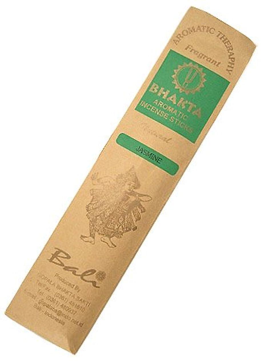 注目すべきつぶすアライメントお香 BHAKTA ナチュラル スティック 香(ジャスミン)ロングタイプ インセンス[アロマセラピー 癒し リラックス 雰囲気作り]インドネシア?バリ島のお香