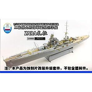 1/350 イタリア海軍 重巡洋艦 ザラ 用スーパーディテール トランペッター 用 プラモデル用パーツ