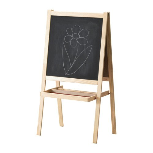 IKEA MÅLA 子供用お絵かき 59インチ リバーシブル ホワイト/ブラックボード ソフトウッドイーゼル 2点