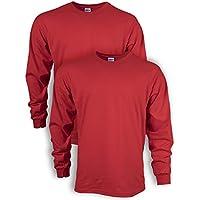 Gildan Mens G2400P2 Ultra Cotton Adult Long Sleeve T-Shirt, 2-Pack Long Sleeve T-Shirt