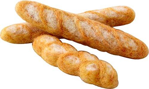 ハマナカ フェルトキット フェルト羊毛の小さなパン屋さん シンプルなフランスパンのセット H441-470