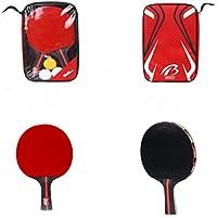 (ユーティエスティ) UTST 卓球 シェイク ハンド ラケット ピンポン 球 3個 セット 収納袋 付き 運動 練習 家族 友人 と楽しむ方に