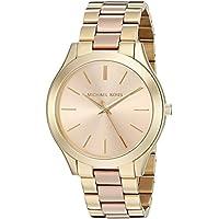 Michael Kors Women's MK3493 Slim Runway Gold-Tone Watch