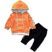3f599f7c1767f Mhomzawa 子供服 赤ちゃん服 上着+パンツ 2点セット かっこいい ベビー服 ロンパース カバーオール