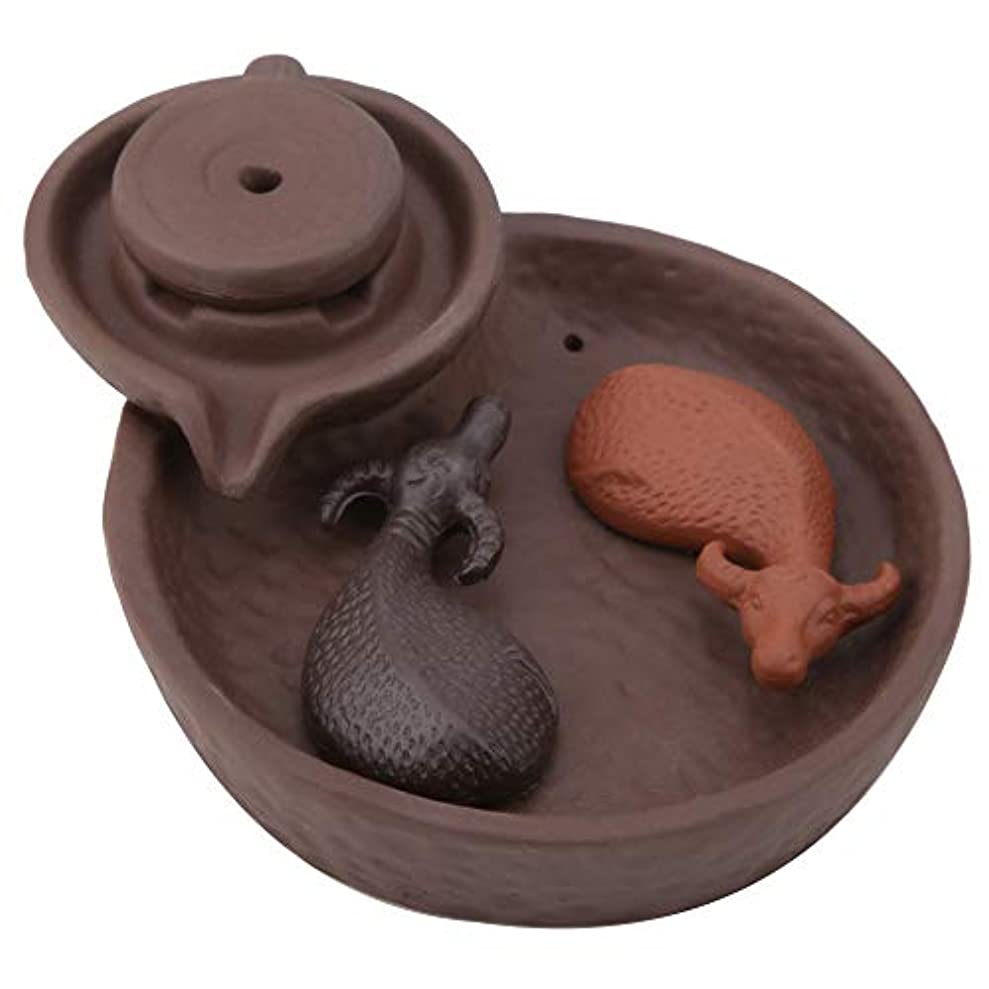セマフォ伝えるコーデリア煙逆流香 バーナー セラミック 香り 香り除去 香炉 香コーンホルダー 家の装飾 アロマセラピー飾り
