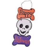 Prettyia ハロウィーン 頭蓋骨 ぶら下げ 「Happy Halloween」  パーティー 飾り付け