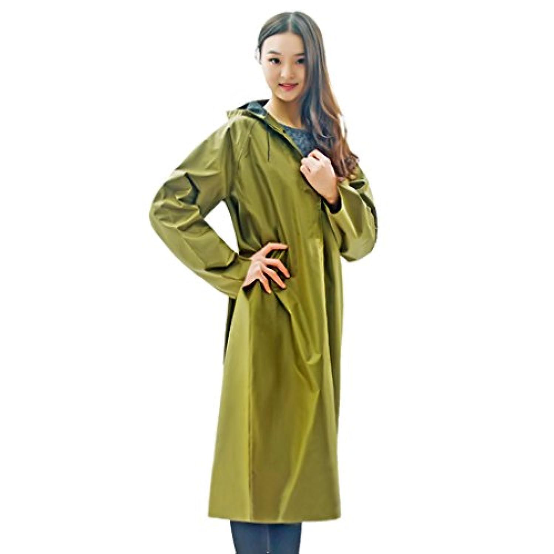 厚手キャンバスユニセックスシャムロングレインコート成人用黄色防風雨ポンチョ (Size : XXXXL)