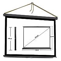 プロジェクター スクリーン 折り畳む携帯式50インチ ローリング 16:9 自立型タイプ アウトドア ホームシアター ガラス繊維材料 ハイビジョンスクリーン(40 inch 16:9)