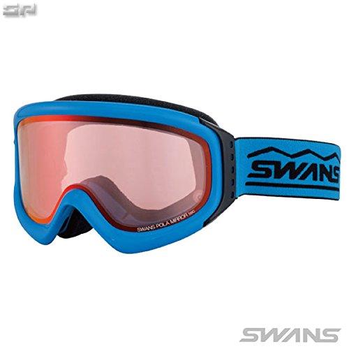 SWANS(スワンズ)大人用 ブラウンミラー偏光ピンクダブルレンズ スキーゴーグル 透過率42% INDY-MPDH SKBLスカイブルー F