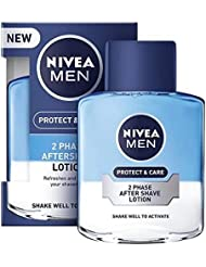 [Nivea ] ニベアの男性2相アフターシェーブローション保護&ケア、100ミリリットル - NIVEA MEN 2 Phase Aftershave Lotion Protect & Care, 100ml [並行輸入品]