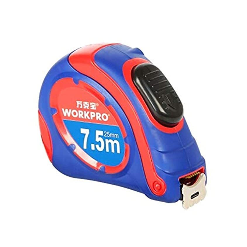仲人船尾動揺させるRLYBDL オールインクルーシブラバーセルフロックメトリック赤と青のカラースチールテープ測定ツール5m * 19mm (Color : Blue, Size : 7.5m)