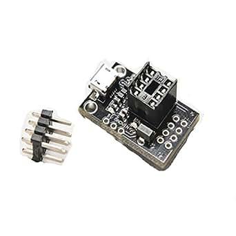 HiLetgo プログラマー 開発ボード マイクロ USB ATtiny13A/ATtiny25/ATtiny45/ATtiny85のため