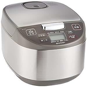 シャープ 炊飯器 マイコン方式 5.5合 黒厚釜 球面炊き シルバー KS-S10J-S