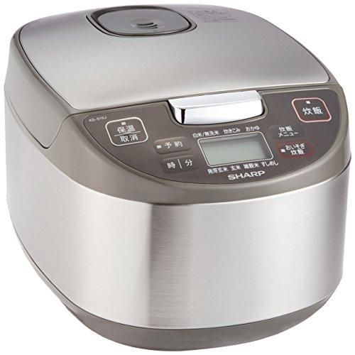 シャープ 炊飯器 マイコン方式 5.5合 黒厚釜 球面炊き ...