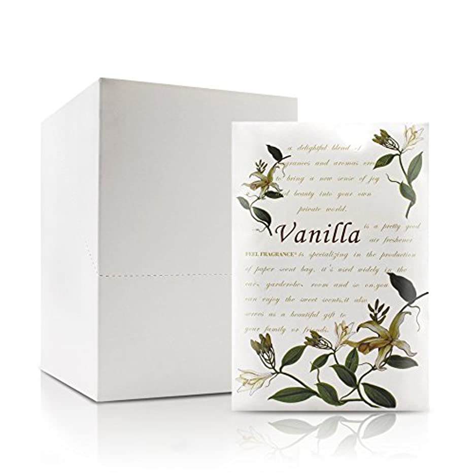 衣類憲法スペースFeel Fragrance香りつきラベンダーサシェ封筒の引き出し、クローゼットLot of 12 (バニラ)