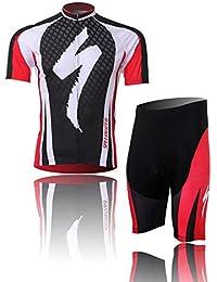 DOKEA サイクルジャージ上下セット メンズ 夏用 半袖 通気吸汗速乾 高弾力 カジュアルスポーツウェア