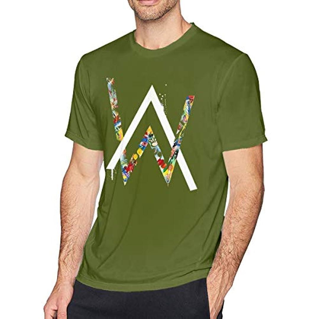 リップペデスタル考慮一葉草のtシャツ 半袖 メンズ 純綿 アラン ウォーカー Alan Walker DJ プリント 印象的なTシャツ 着回 夏向き 爽やか ロゴTシャツ TEE トップス カットソー オシャレ オトク
