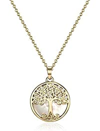 Mestige Gold Willow Tree of Life Necklace with Swarovski® Crystals, Gift